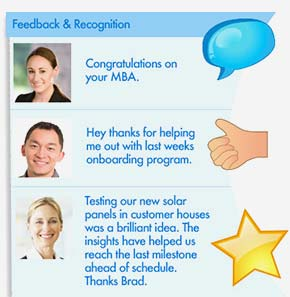Enterprise Social feedback and recognition