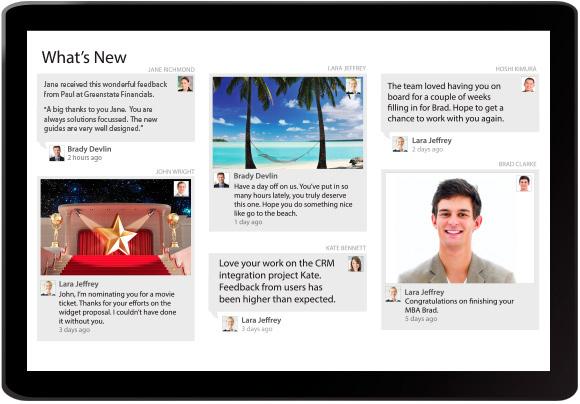 Cognology Enterprise Social Network Wall screenshot