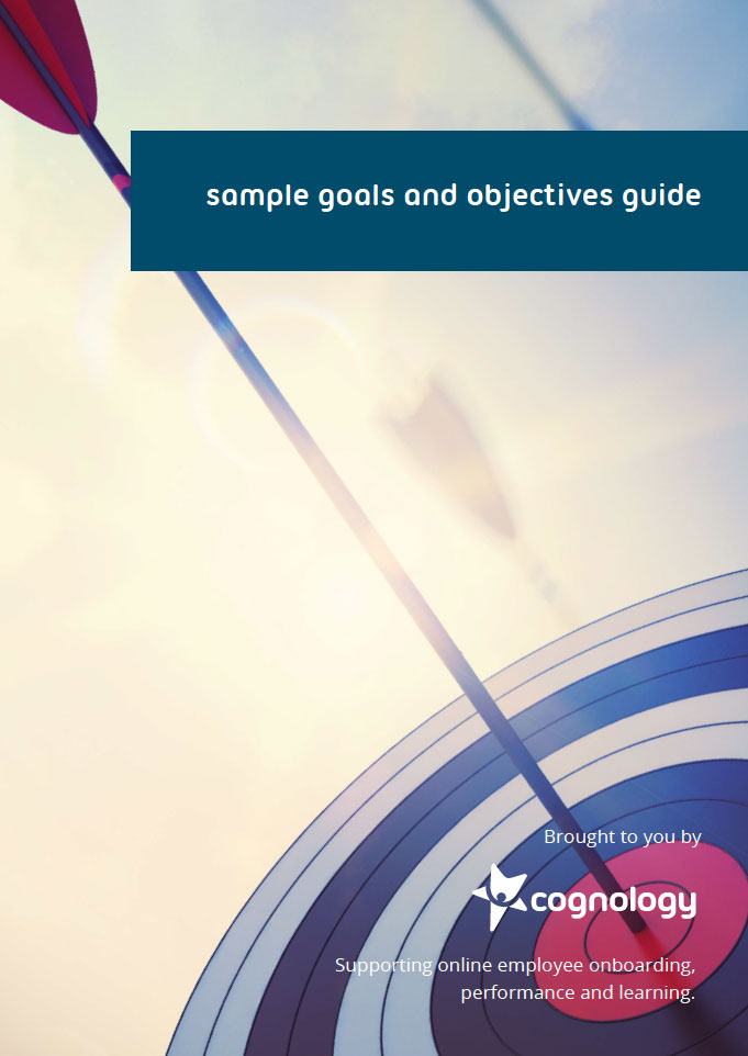 Sample goals and objectives cover